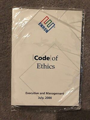 2000 Enron Executive and Mgmt Enron Code of Ethic-still in original shrink wrap