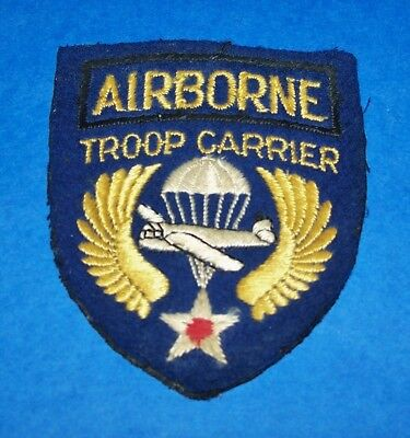 Original Cut-Edge Felt Ww2 British Made Airborne Troop Carrier Patch Off Uniform