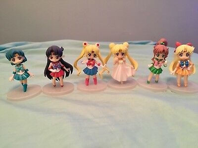 USED Sailor Moon Crystal Atsumete Figures FULL SET excellent condition