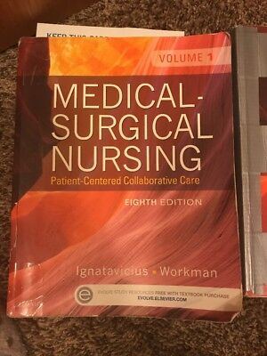 Medical Surgical Nursing, 8th Ed, Ignatavicius, Book Is Highlighted And Taped
