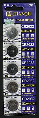 5 Cr2032, Br2032, 2032 3V Tianqiu Lithium Coin Battery