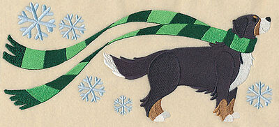 Wrapped Up In Winter Bernese Mountain Dog  Bathroom HAND TOWEL SET EMBROIDERED