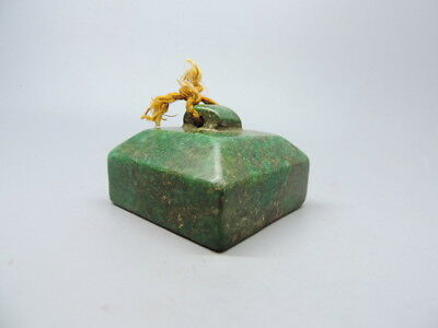 Ancient Hand-carved Chinese Jade Stone Seal Chop Stamp Seal Signet F