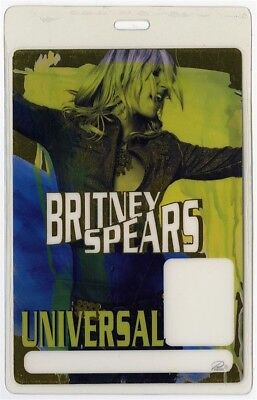Britney Spears authentic 2001 Laminated Backstage Pass Dream Within a Dream Tour