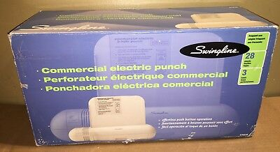 """Swingline (74535) 28-Sheet COMMERCIAL Electric Three 3 Hole Punch 9/32"""" Holes"""