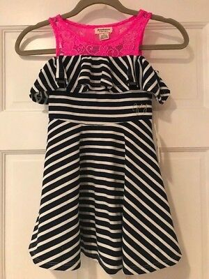NWT! Juicy Couture girls Navy Blue & Pink Size 5T  Original price $65
