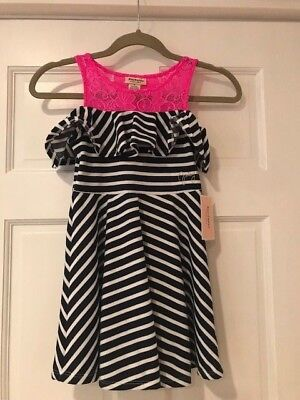 NWT! Juicy Couture girls Navy Blue & Pink Size 6 Little girls Original price $65