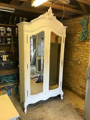 White Antique French Armoire/Wardrone