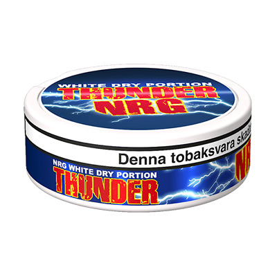 Snus Cut Chew Dip From Sweden Thunder Ultra Frosted White Dry Portion 1 Can! Snuff Boxes