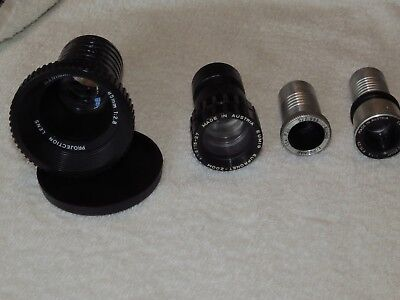 Four Lenses for film and slide projection.