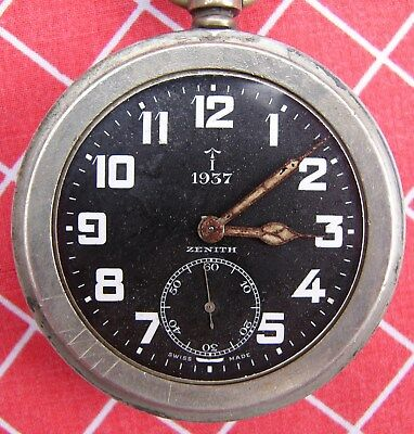 Vintage Zenith 1937 Military Pocket Watch GS Mk 1 8221746