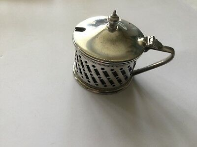 VINTAGE MUSTARD POT - SILVER PLATE by C.Bros