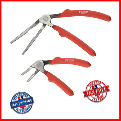 """E-Z Red KWP2 Kiwi Plier Two Piece Set Includes 6"""" Short Nose and 8"""" Long Nose"""