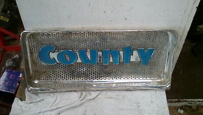 Rare Original County 754 Tractor Top Grill & Badge