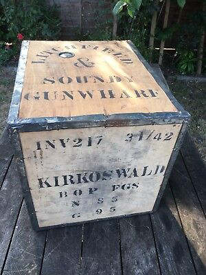 Vintage wooden tea chest Litchfield Soundy Gun Wharf Original  Good Condition