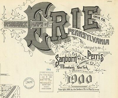 Erie, Pennsylvania~Sanborn maps made in 1900 with about 82 sheets  in full color
