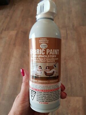Simply Spray Fabric Paint For Upholstry, Camel Colour, Sealed New, 226G