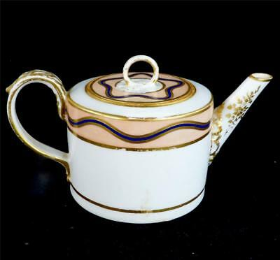 N709 Antique Late 18Th Century Derby Porcelain Teapot