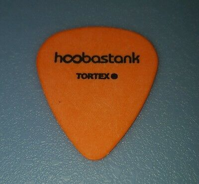 HOOBASTANK-Stage Used-David Amezcua-Signature Guitar Pick (Orange w/Black Print)