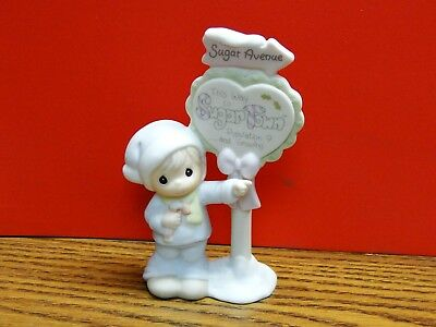 "Precious Moments Sam Butcher ""Population Sign Figurine"" 1993"