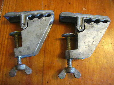 Zyliss Pair of Swiss Made Aluminium Vice Clamps Very Good Condition