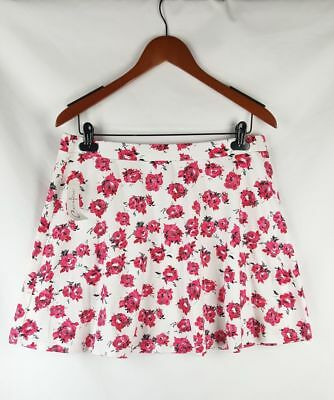 Curfew Junior's White & Pink Floral Skirt Size Large