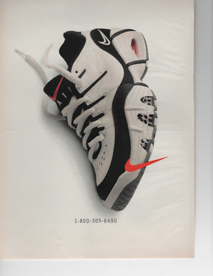 Vintage Print Ad For Nike Shoe Ready To Be Framed Or Gift Idea! 1-800-305-6490
