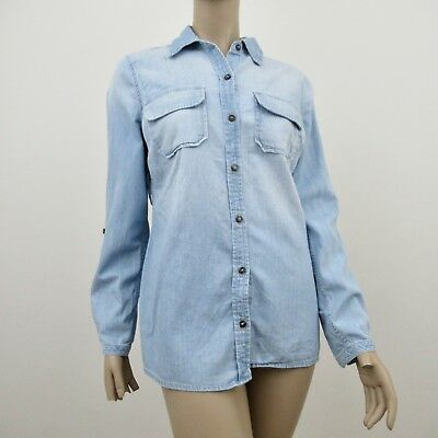 AG Adriano Goldschmied Top Blouse Maternity Pea In The Pod Denim Size Small