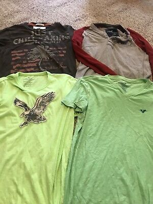 Lot Of american Eagle & Hollister Mens Shirts  Sz XS