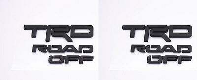 Fit Toyota 4Runner Trd Off Road Emblem Set  Fits 2016-2017 Black 2 Pcs