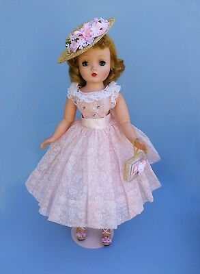 Minty vintage 1950s tagged day dress for Madame Alexander Cissy Doll - NO DOLL