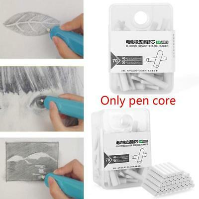 70Pcs Handy Electric Battery Operated Pencil Eraser Rubber Refills Gift Hot