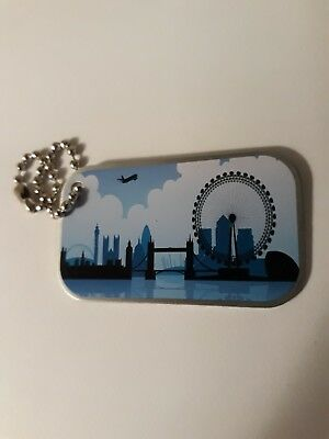 'LONDON SKYLINE' travel tag - unactivated - geocaching