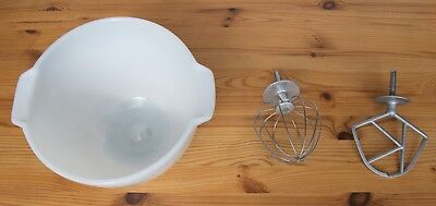 Vintage Kenwood chef Bowl, whisk and K beater