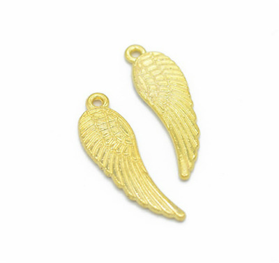 Wholesale 6pcs Tibet silver Wing Necklace Charm Pendant beads Jewelry Making DIY
