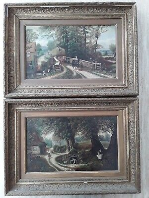 Edward Priestley pair of original antique paintings