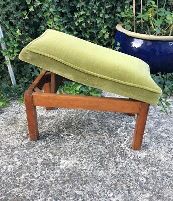 1950's Vintage Comfie FootStool By L.E Grest - Adjustable Height