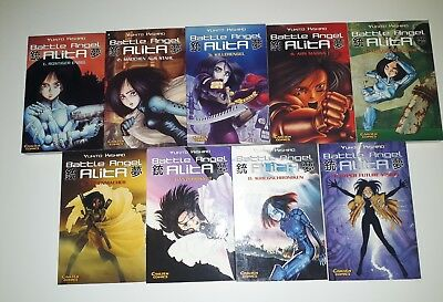 Battle Angel Alita, Manga Band 1 bis 9 komplett, deutsch