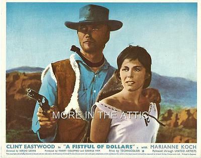 SPAGHETTI WESTERN FAVE CLINT EASTWOOD FISTFUL OF DOLLARS LEONE UK FoH #4