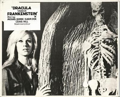 DRACULA vs FRANKENSTEIN PAIR OF ORIGINAL PAUL NASHY EURO HORROR STILLS