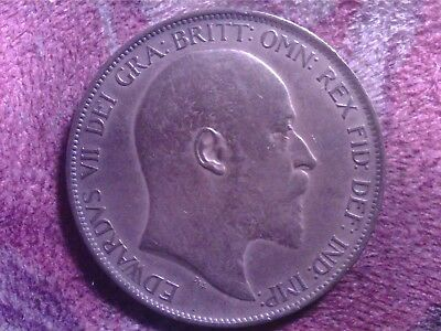 Great   Britain  One  Penny   1902   Sept16