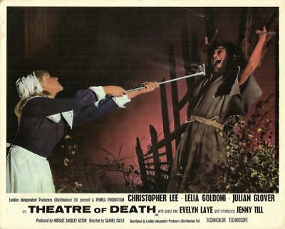 Hammer Horror Star Christopher Lee Orig Theatre Of Death Uk Film Still