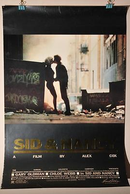 Sex Pistols Sid And Nancy Punk Gary Oldman Orig Rolled Movie Theatre Foil Poster
