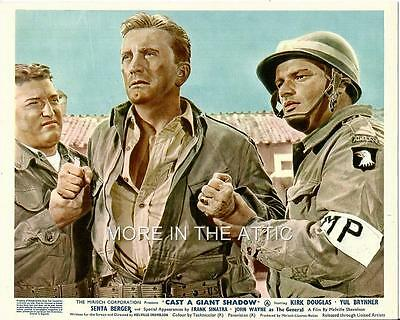 Kirk Douglas Yul Brynner John Wayne Senta Berger Orig Cast A Giant Shadow Uk Set