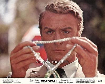 Michael Caine Giovanna Ralli Deadfall Original Vintage Us Mini Lobby Set Of 8