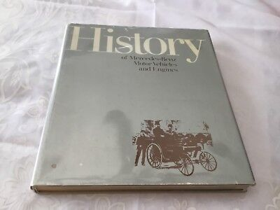 HISTORY OF MERCEDES-BENZ MOTOR VEHICLES AND ENGINES CAR BOOK signed copy