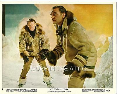 Ice Station Zebra Lot Of 4 Original Vintage Submarine Us Mini Lobby Card Stills