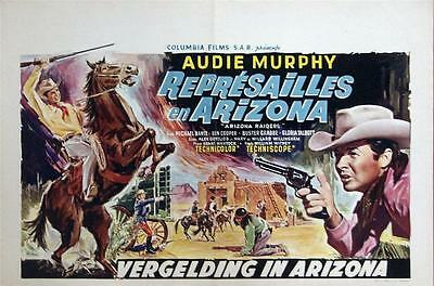 Western Star Audie Murphy Arizona Raiders Orig Belgian Film Poster