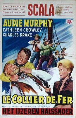 Western Star Audie Murphy Original Showdown Belgian Film Poster