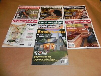 Fine Homebuilding Magazines Lot of 7 / 2016 + Houses